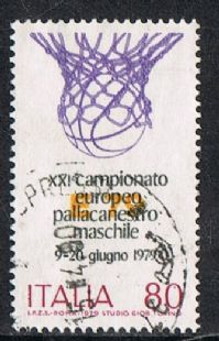 Italy SG1610 1979 Basketball 80l good/fine used